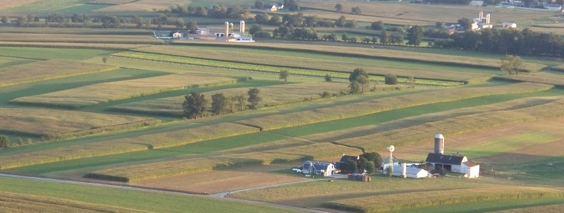 Farms from the air