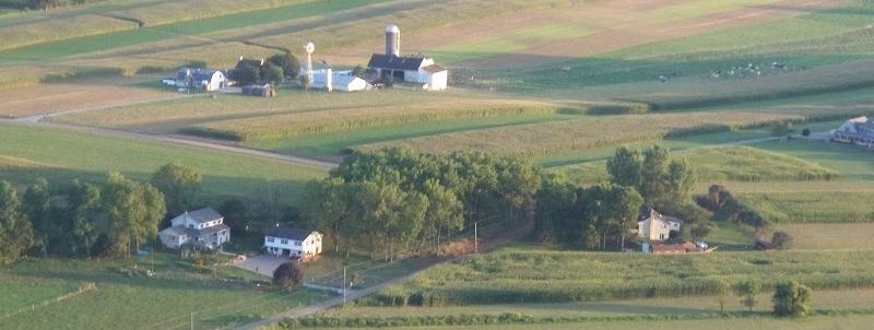 aerial fields & farms