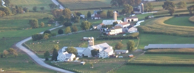 aerial of Todd Road farms